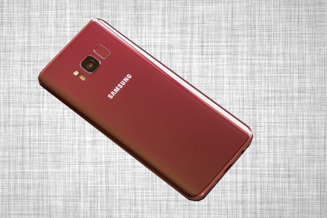 Popular Galaxy S8 is spotted with fancy Burgundy Red colour