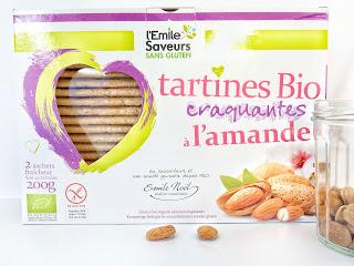 Tartines bio craquantes à l'amande - L'Emile Saveurs