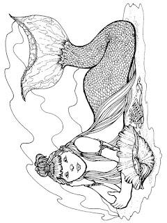 Malvorlagen Meerjungfrau zum Ausmalen