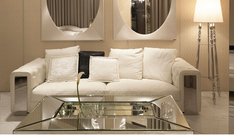 decoração de salas com espelho na moldura