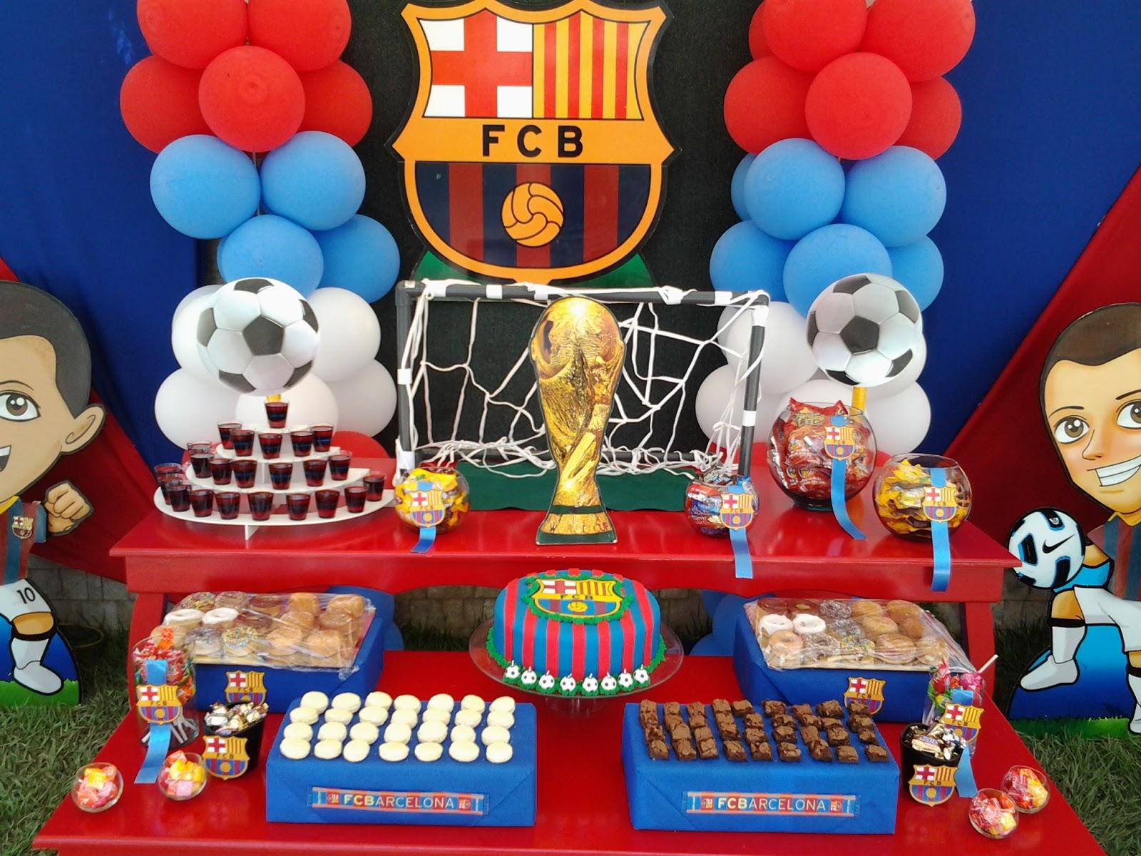 Pkelandia fiesta del fc barcelona cumplea os de andr s - Lucio barcelona decoracion ...