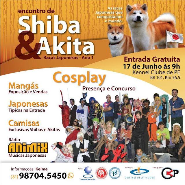 Festival de Cães Japoneses e Cosplay Movimenta o Kennel Club neste fim de semana, O evento Gratuito terá também Radio Animix, Estande de Cultura Pop entre outras atrações.