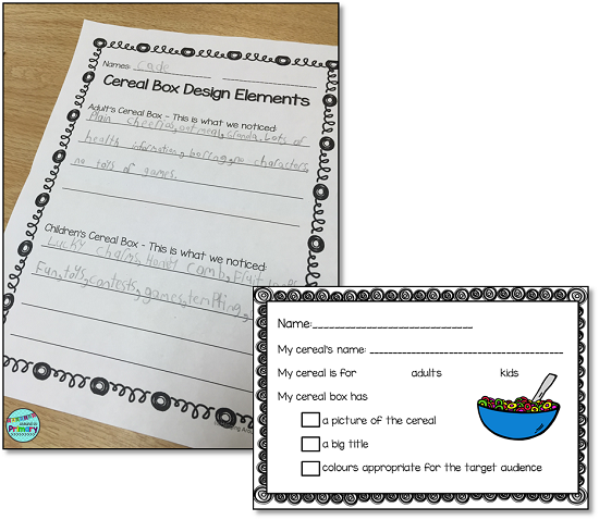 How To Use Cereal Boxes To Teach Media Literacy Hanging Around In Primary