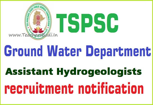 TSPSC,Assistant Hydrogeologists,Online application form