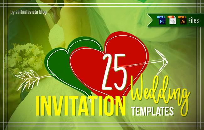 Descargar 25 Plantillas Gratis para Invitaciones de Boda by Saltaalavista Blog