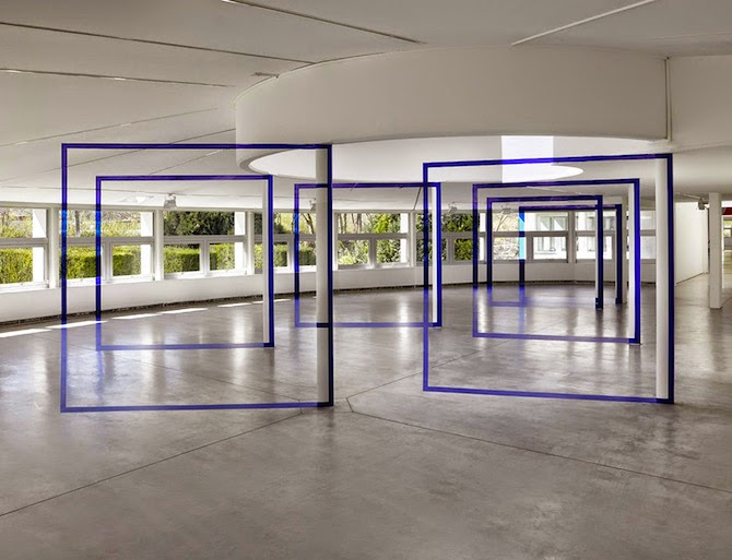 Geometric Paintings Meet Optical Illusion by Swiss artist Felice Varini