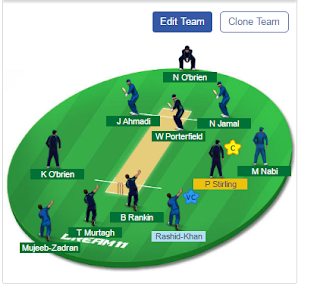 IRE VS AFGH Playing 11 Today, IRE VS AFGH Dream11 Team Prediction, IRE VS AFGH Dream11 Expert Team 7th December