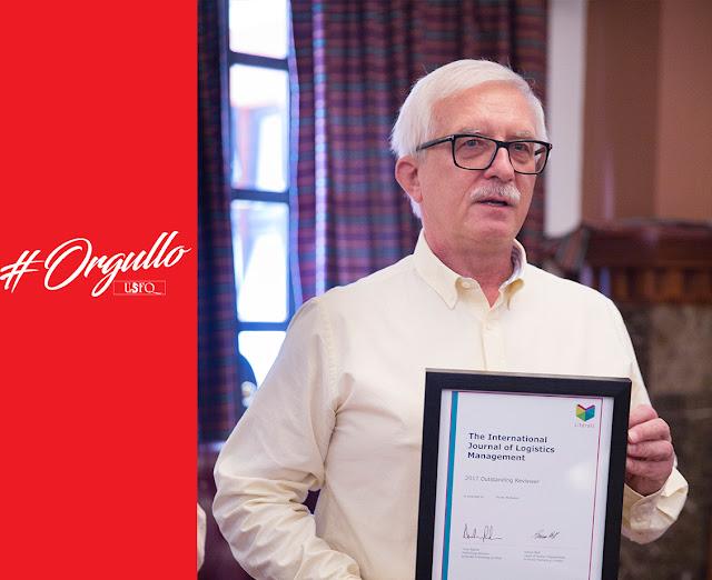 "The International Journal of Logistics Management otorga reconocimiento como ""Outstanding Reviewer"" a Marek Michalski"