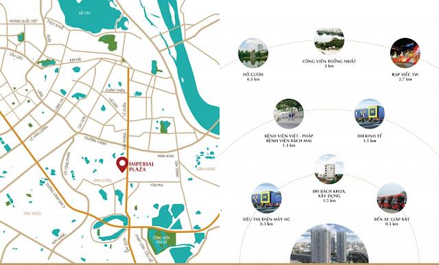 vị trí đắc địa của dự án imperial Plaza
