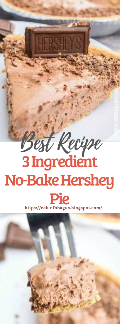 3 Ingredient No-Bake Hershey Pie #desserts #cakerecipe