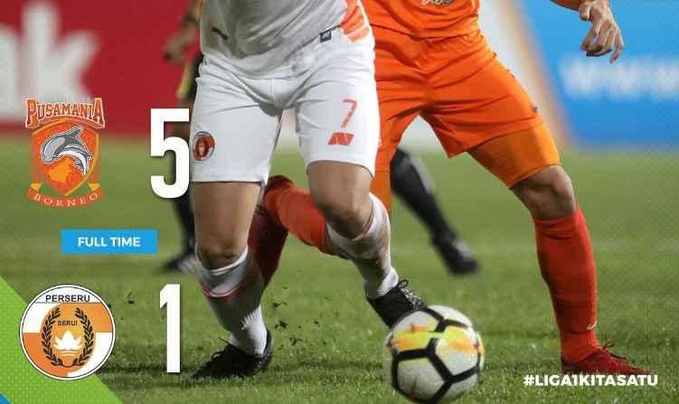 Hasil Borneo FC vs Perseru Serui Skor Akhir 5-1   Pekan 14 Liga 1 Gojek