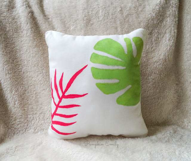 DIY Tropical Pillow