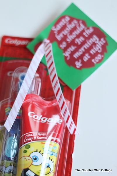 Santa loves to brush his teeth