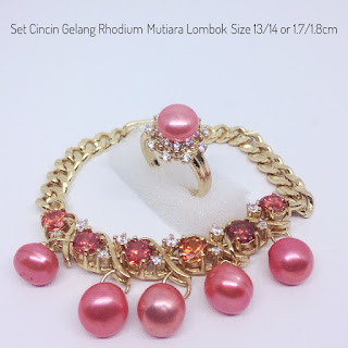 Harga 1 Set Perhiasan Mutiara Lombok