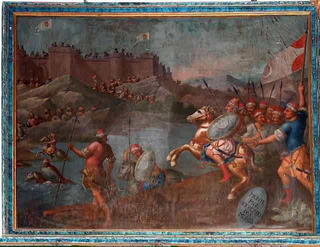 Montemor-o-Velho assediado pelos mouros.