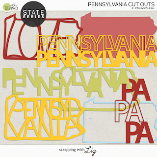 Pennsylvania Cut Outs for Digital and Hybrid Scrapbooking