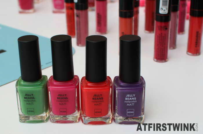 HEMA Jelly Beans nail polish matt