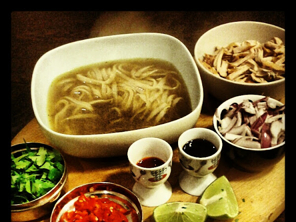 Making pho, Vietnam's national dish