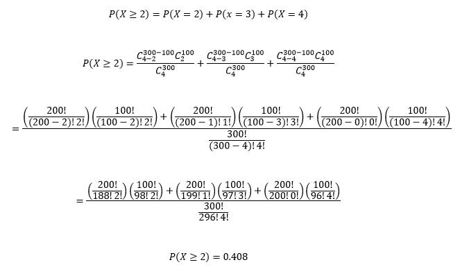 Ejercicio resuelto Distribución Hipergeométrica