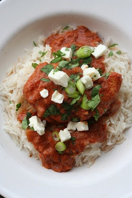 Slow Cooker Buttered Chicken and Tomato Curry from Dinner du Jour found on SlowCookerFromScratch.com