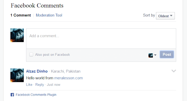comment system like fb for wordpress