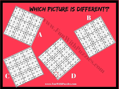 Killer Sudoku Odd One Out Picture Puzzle Answer