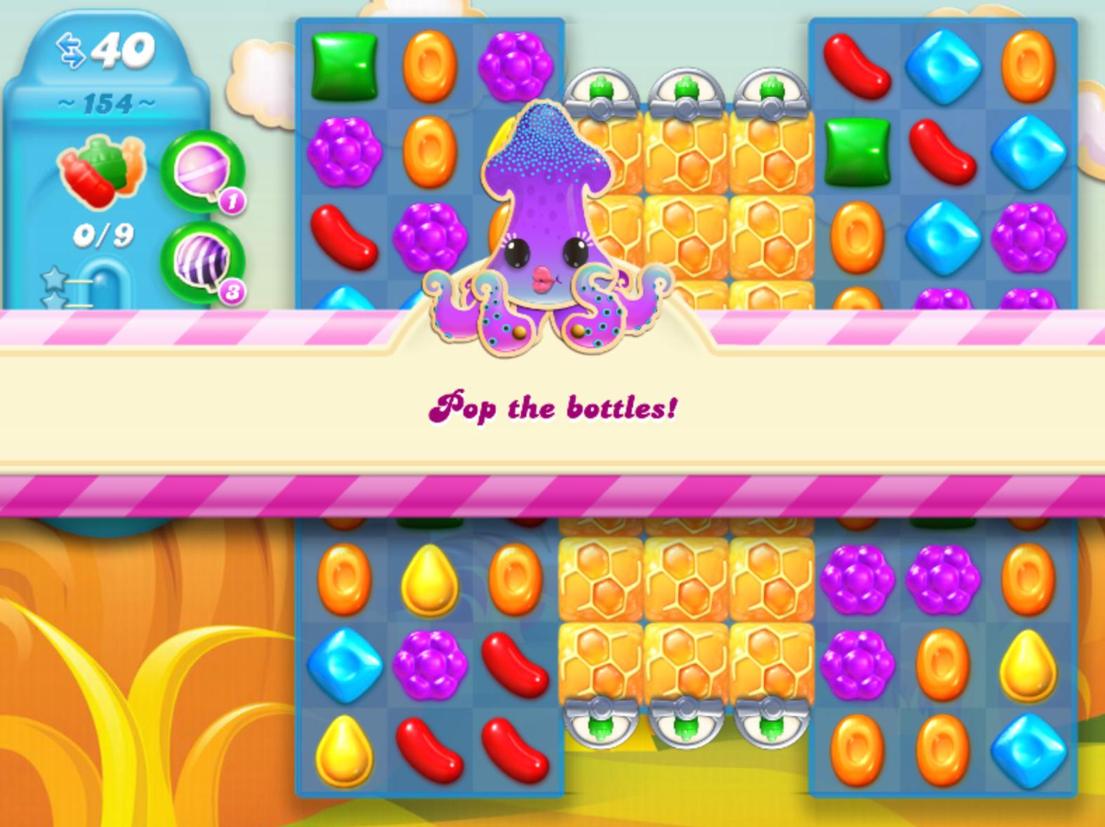 Candy And Crush Soda : Candy Crush Soda Saga Level 154
