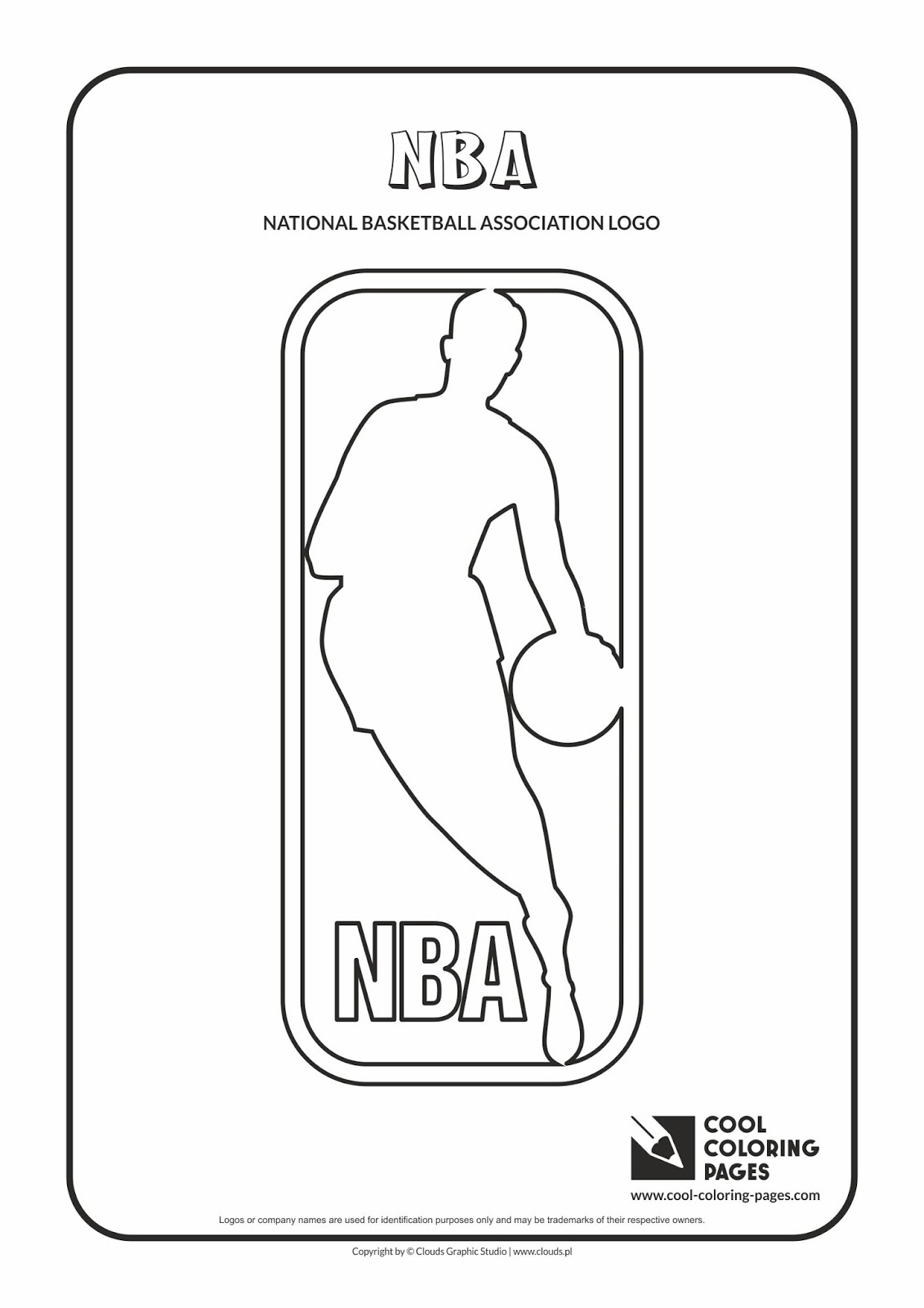 NBA Teams Logos Coloring Pages For Kids