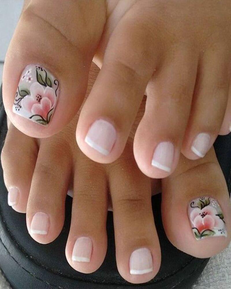 Unhas decoradas para os pés