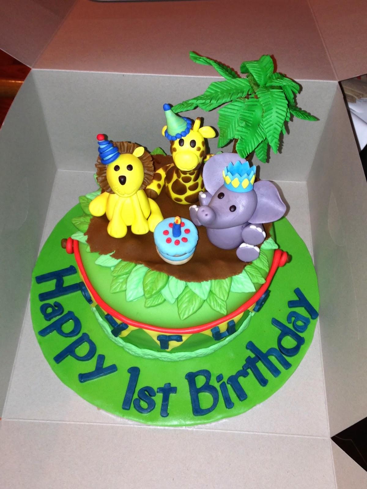 Joyce Gourmet Baby Animals For Cyrus First Birthday Cake