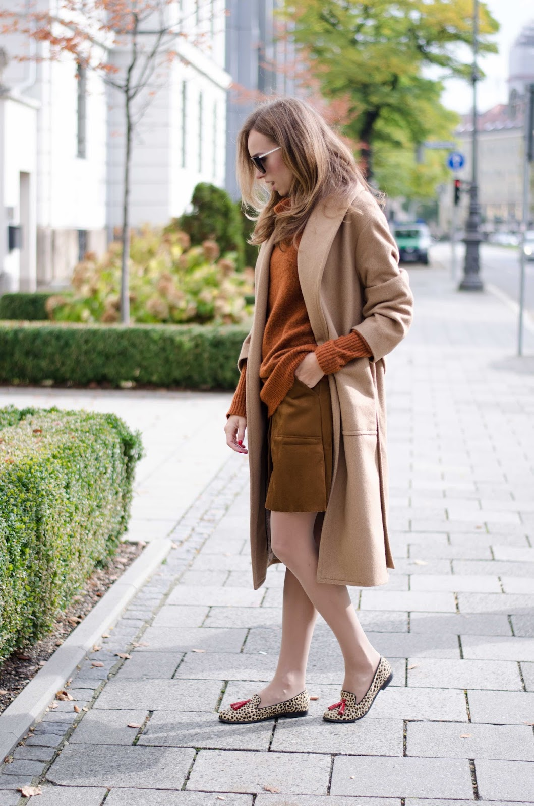 kristjaana mere mango camel coat lindex rustic roll neck jumper suede mini skirt fall outfit