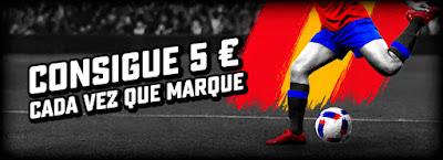 BetStars promo maximo goleador 5 € gratis cada vez que marque 7-24 junio