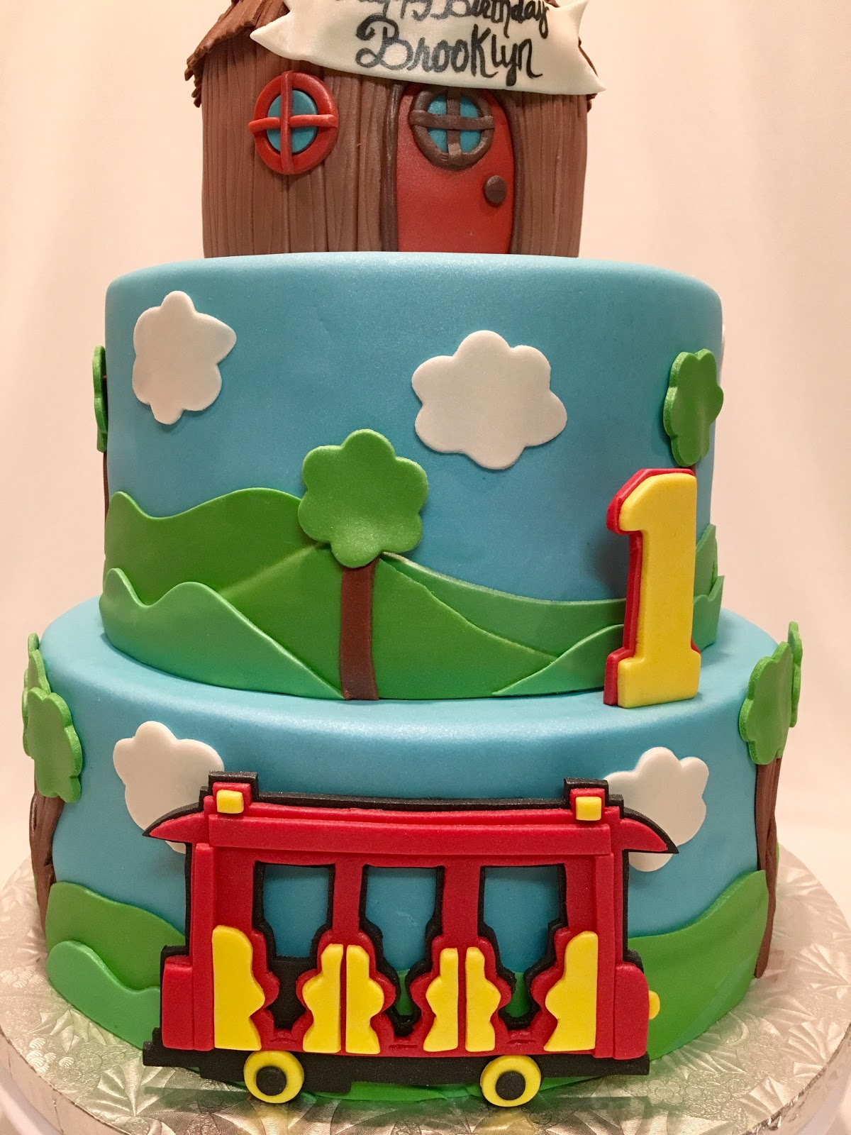 Mymonicakes Daniel The Tiger Cake With Trolley And
