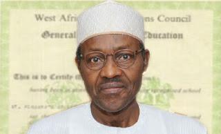 President Buhari WAEC CERTIFICATE