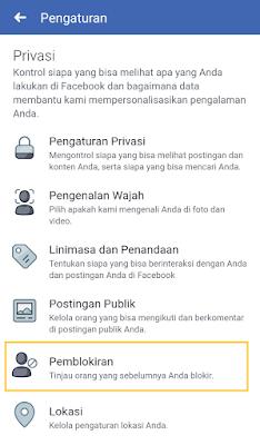Membuka blokir fb di aplikasi facebook