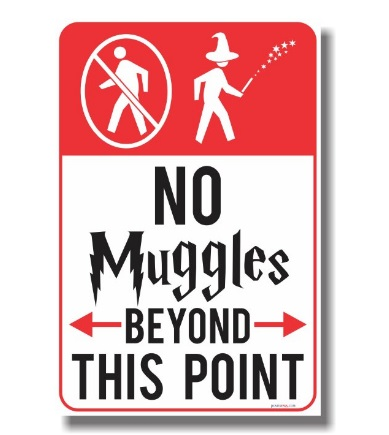 Top 20 Harry Potter Wishlist Items that I need in my life Hogwarts No Muggles Beyond This Point Poster