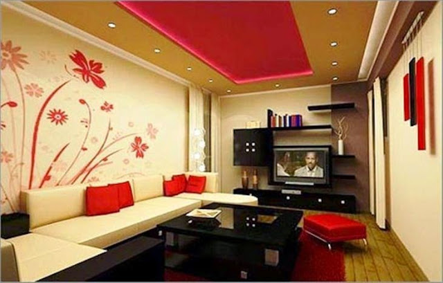 wall painting ideas for small living room