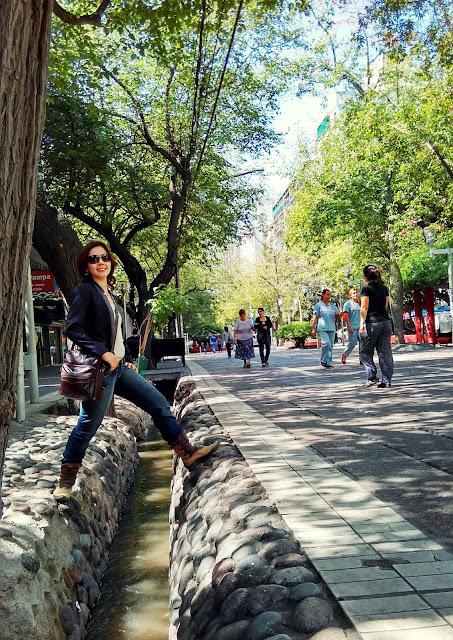 Um canal de Mendoza.