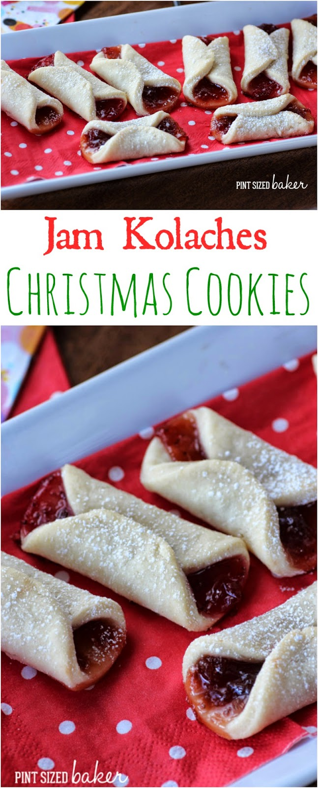 I made some easy and delicious Jam Kolaches for Christmas! They're great on a cookie platter!