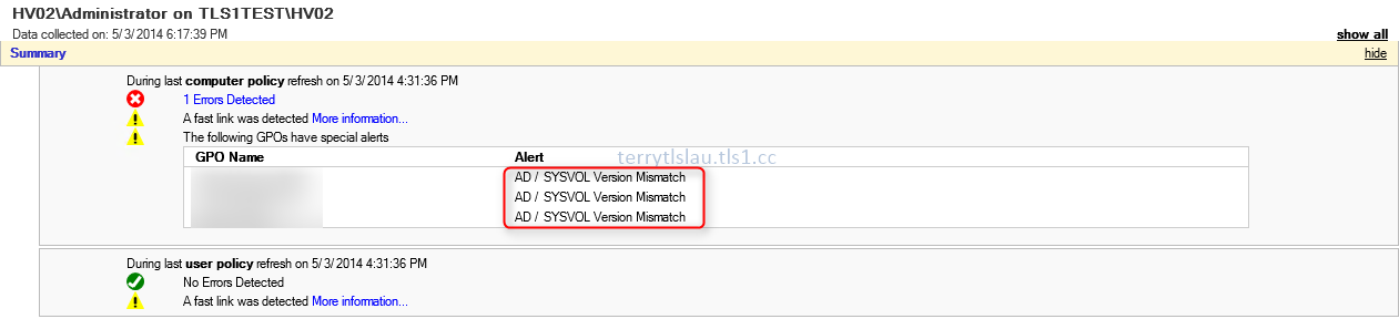 Terry L@u's blog: SYSVOL (65535) and AD / SYSVOL Version Mismatch on