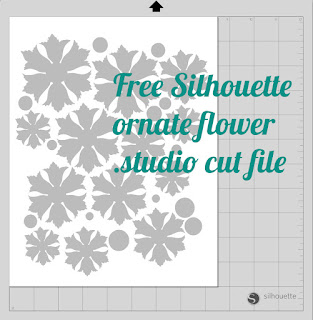 Free ornate flower Silhouette .studio cut file - from mel stampz