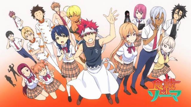 Shokugeki no Souma - Daftar Anime Buatan Studio J.C.Staff Terbaik