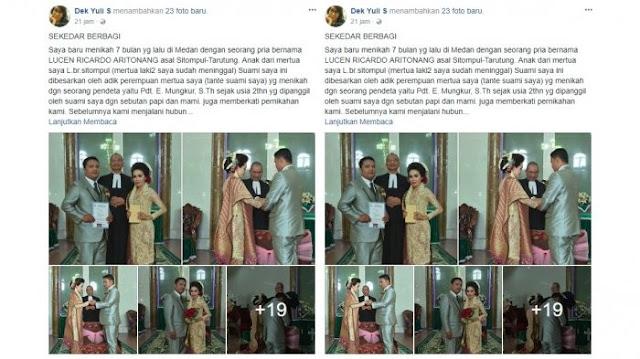 Sebuah unggahan di Facebook yang menceritakan pernikahan saudara sekandung menjadi heboh dan viral.