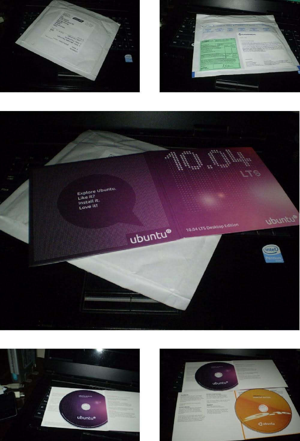 CDs do Ubuntu que recebi em casa