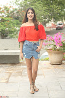 Rhea Chakraborty in Red Crop Top and Denim Shorts Spicy Pics ~  Exclusive 269.JPG