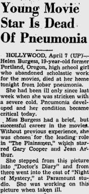 Helen Burgess Dead