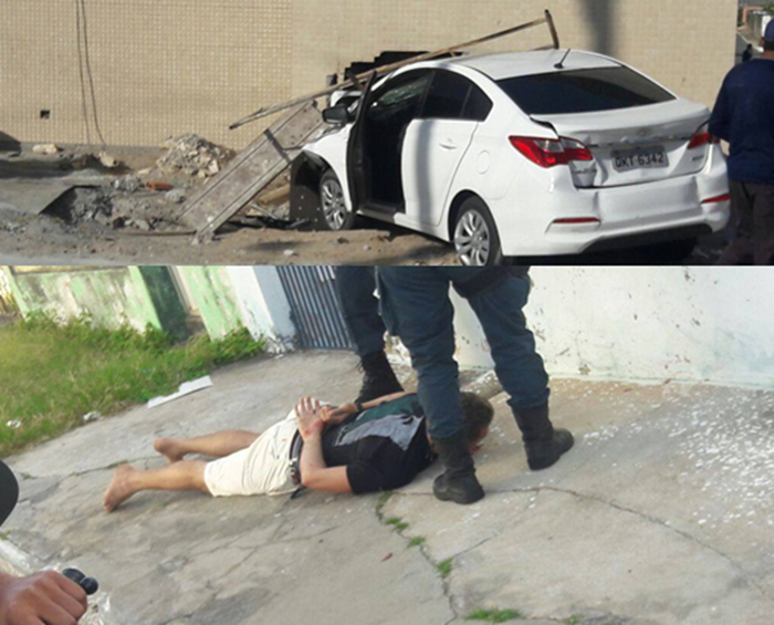 Acusado de roubar carros bate em muro durante perseguição e termina preso