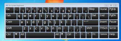 cara membuka on-screen keyboard atau osk