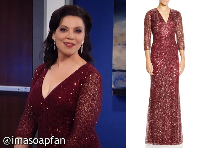 Liesl Obrecht, Kathleen Gati, Sequined Red Gown, Kay Unger, Nurses Ball, GH, General Hospital