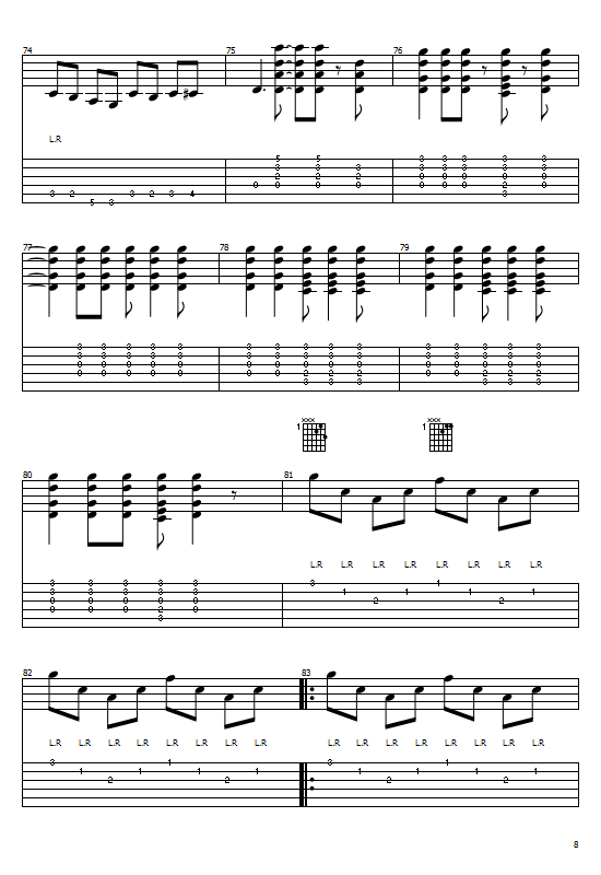 The Beatles - A Hard Day's Night (Guitar)(Tabs/Notations) Tabs & Sheet Music